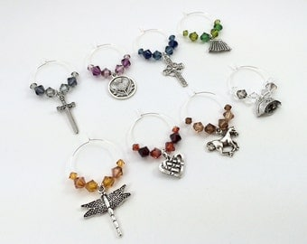 Outlander Inspired Wine Charms, Stemware, Cocktail Charms