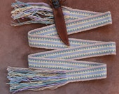 Handwoven Wool Strap For Historic Reenactment or Modern Times, Pastel Colors
