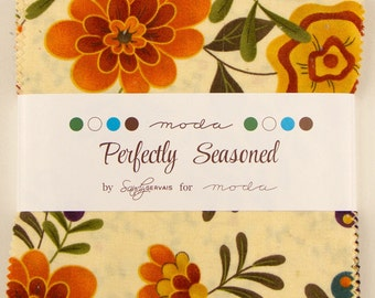 """Perfectly Seasoned Charm Pack 5"""" Squares Sandy Gervais Moda"""