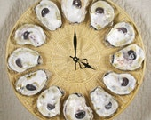 Basket of Oysters on the Half Shell Wall Clock