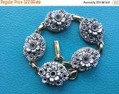 Spring Clearance Sale Art Deco Carved Celluloid flower bracelet -EPSTEAM - flower floral - spring jewelry - ornate bracelet- Floral flower c