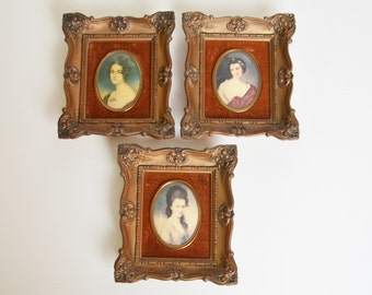 Vintage 50s Cameo Portraits 18th Century / 1950s Cameo Creations