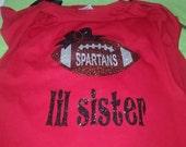 Football Sister Shirt, Football Sister, Football Shirt, Football, Sister Shirt, Football Sister Shirts, Football Bling, Big Sister Shirt