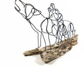 Howling Wolves Wire Sculpture, Pair of Wolves, Wolf Folk Art, Timber Wolf Sculpture, 469335099