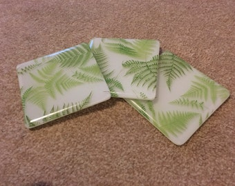 Printed Green Fern Coaster