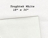 Toughtek Non slip White Fabric 18 by 36 inches