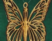 3-D Wood Butterfly Ornament
