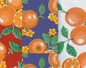 Oranges Oilcloth Yardage