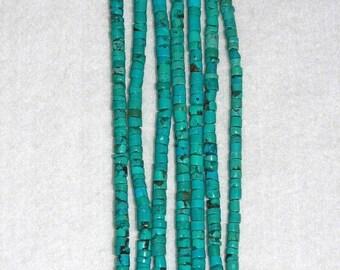 Turquoise Heishi Beads 4mm