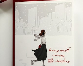 Christmas Cards - Boxed Set (8) - Charistmas Card Set - Have Yourself a Merry little Christmas