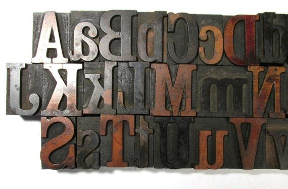 Vintage Wooden Letterpress Type Blocks Your Choice 1 5 16