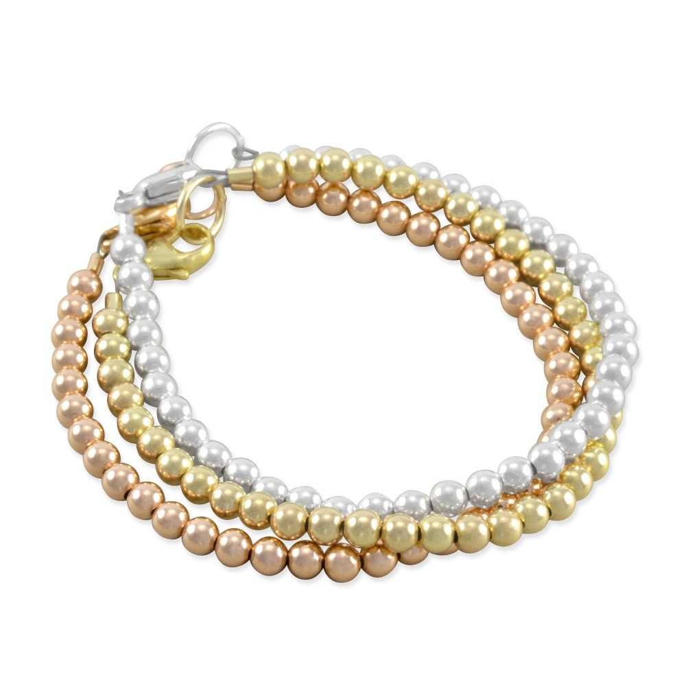 gold baby bracelets set beaded bracelet sterling silver