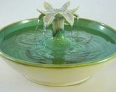 "Pet Fountain  - Cat  Drinking Fountain - Indoor Fountain - 11.25 Inch Diameter ""Pearl Lotus"""