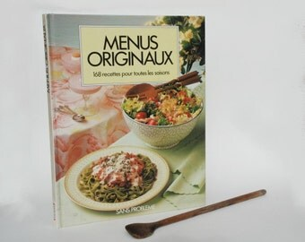 French Cookbook, Cooking Book, Vintage Kitchen decor, Mother's day gift idea