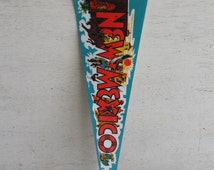 "Vintage Pennant Banner -- New Mexico // 14"" Collectible Souvenir Pennant Banner"
