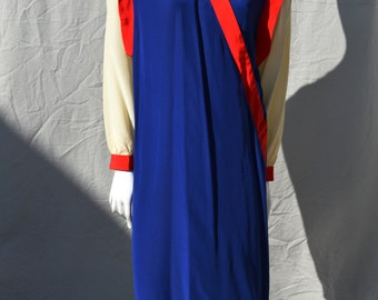 Vintage 80's silk dress CASSIS new age modern avant garde Memphis color block dress s12 by thekaliman