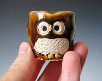 Itty Bitty Baby Owl 'Clever' in Golden Honey Brown - Ready to Ship