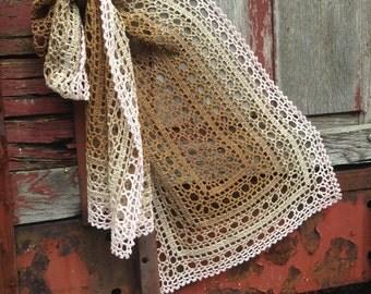 Crochet pattern : Biscuit Shawl