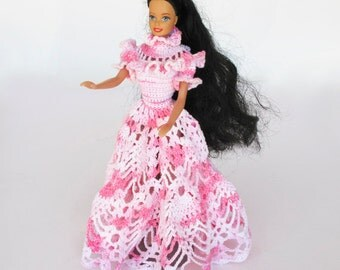 Beautiful Crocheted Barbie Dress