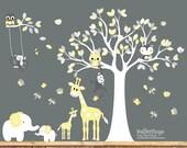 Nursery wall decal - Tree decal - Children Wall decal - Nursery Tree Vinyl Decal - Nursery decals