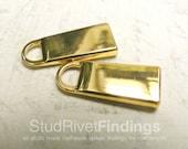 2pcs 23x10mm ZINC gold Genuine Leather Zip Puller Fastener Slider For No.3 Zip head