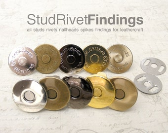 High Qaulity 20 sets 18 mm Silver Magnetic Snap Closure / Extra Thin without pattern