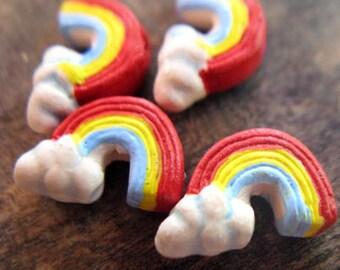 4 Tiny Rainbow Beads