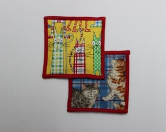 Set of Two Mad for Plaid Cat Print Organic Catnip Cat SacToys