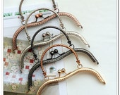 19cm sewing half round purse frame with metal purse handle 5 color available