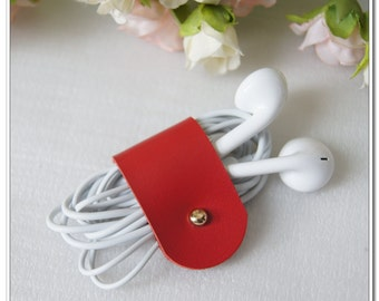 Leather Cable Organizer Cable Gadgets Headphones Cable-Organizer