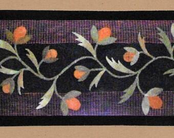 Wool Applique Pattern, Wool Vine Runner, Wool Applique Table Runner, Rustic Decor, Primitive Decor, Wool Table Runner, PATTERN ONLY