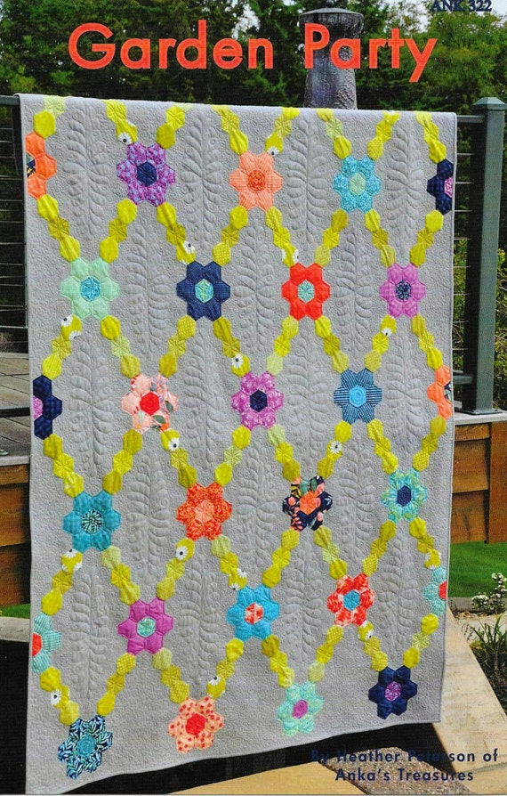 Quilt Pattern Garden Party Pieced Quilt Flower Garden