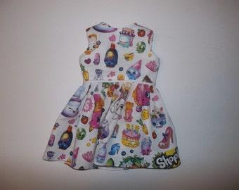 "Shopkins sleeveless dress fits 18"" American girl doll"