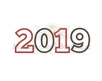 2019 Applique Design - 4 Sizes - Instant Download