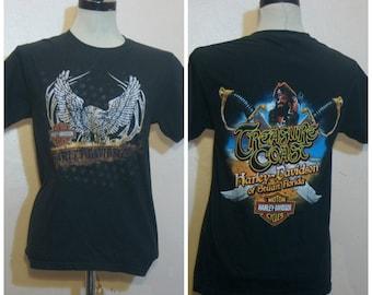 Harley Davidson Tshirt Eagle Pirate Small Motorcycle Biker Shirt 90s