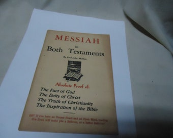 Vintage Messiah In Both Testaments Softback Book by Fred John Meldau, collectable, bible, religious