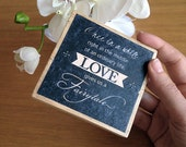 Custom wood block typography - your quote or words transferred onto a wood block 90x90mm - home decor