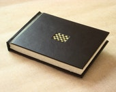 Leather Journal Sketchbook - Chocolate Brown with Checkerboard