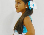 Girls Combination Double Hair Bow Childrens Kids Ribbon Bow Hair Clip Hairbows Hair accessories (Choose Your Colors)