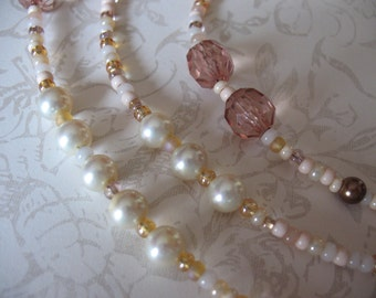 Champagne Bubbles Beaded Necklace