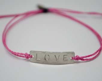 Love bracelet, Valentine's Day Bracelet, Mantra bracelet, Intention Bracelet, Yoga Bracelet, Reminder Bracelet, Love Bomb
