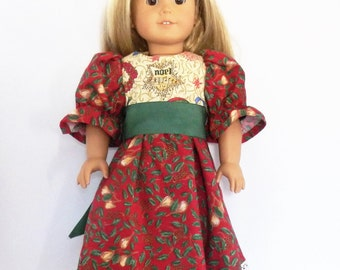 "Christmas Dress Fits 18"" American Girl Doll Clothes"