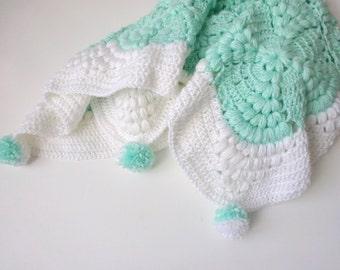Crochet Baby blanket,Unique Crochet Handmade Baby  Blanket design by Arzu,