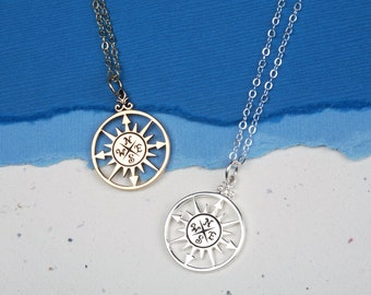 Sale compass necklace with message card,compass necklace,Friendship necklace,Graduation gift,best friends,bridesmaid gifts,guidance necklace