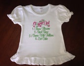 Embroidered - Flower girl shirt or bodysuit