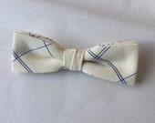 Skinny Bow tie Yellow Plaid Clip-On Pre Tied Cotton Groomsmen Groom Adult Men Teen Boy Baby Kid Party Gift Wedding Birthday Gift