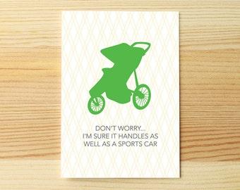 Stroller Sports Car Congrats