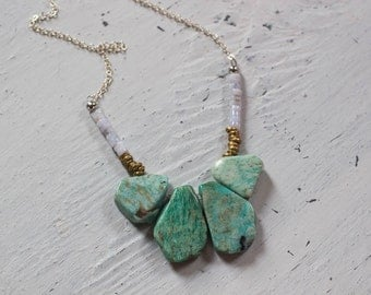 Amazonite Necklace, Boho Jewelry, Gift for Her