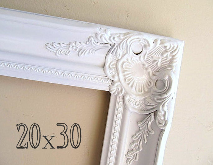 20x30 picture frame photography prop wood frame photo prop empty frame baroque white frame. Black Bedroom Furniture Sets. Home Design Ideas