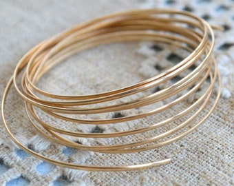 Wire 20 Gauge Half Round 12Kt Gold Filled 5 Feet